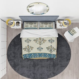 Arthur Court Designs 3-Piece Beverage Pitcher Fleur-De-Lis Pattern 8.5 Tall