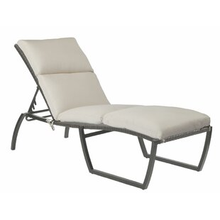 Skye Reclining Chaise Lounge with Cushion by Summer Classics