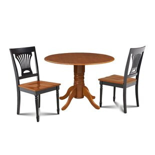 Mac 3 Piece Drop Leaf Solid Wood Dining Set Millwood Pines
