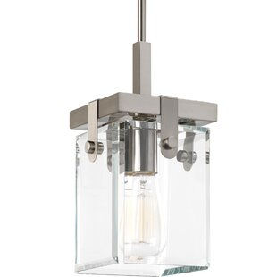 Bridgewood 1-Light Square/Rectangle Pendant by Breakwater Bay