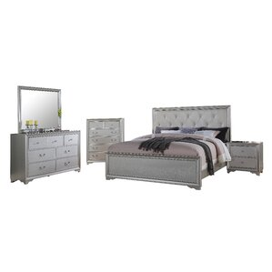 Charming Rohan Panel 5 Piece Bedroom Set Photo
