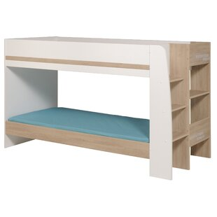 Deramus Twin over Twin Bunk Bed with Mattress, Trundle, and Bookcase by Zoomie Kids