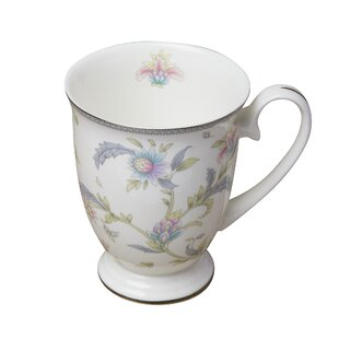 Miral Pedestal Bone China Coffee Mug (Set of 4)
