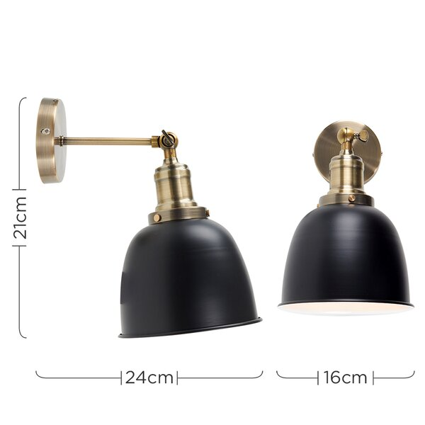 Three Posts Axton 1 Light Armed Sconce Reviews Wayfair Co Uk
