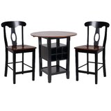 Yates 3 Piece Counter Height Drop Leaf Dining Set by August Grove®