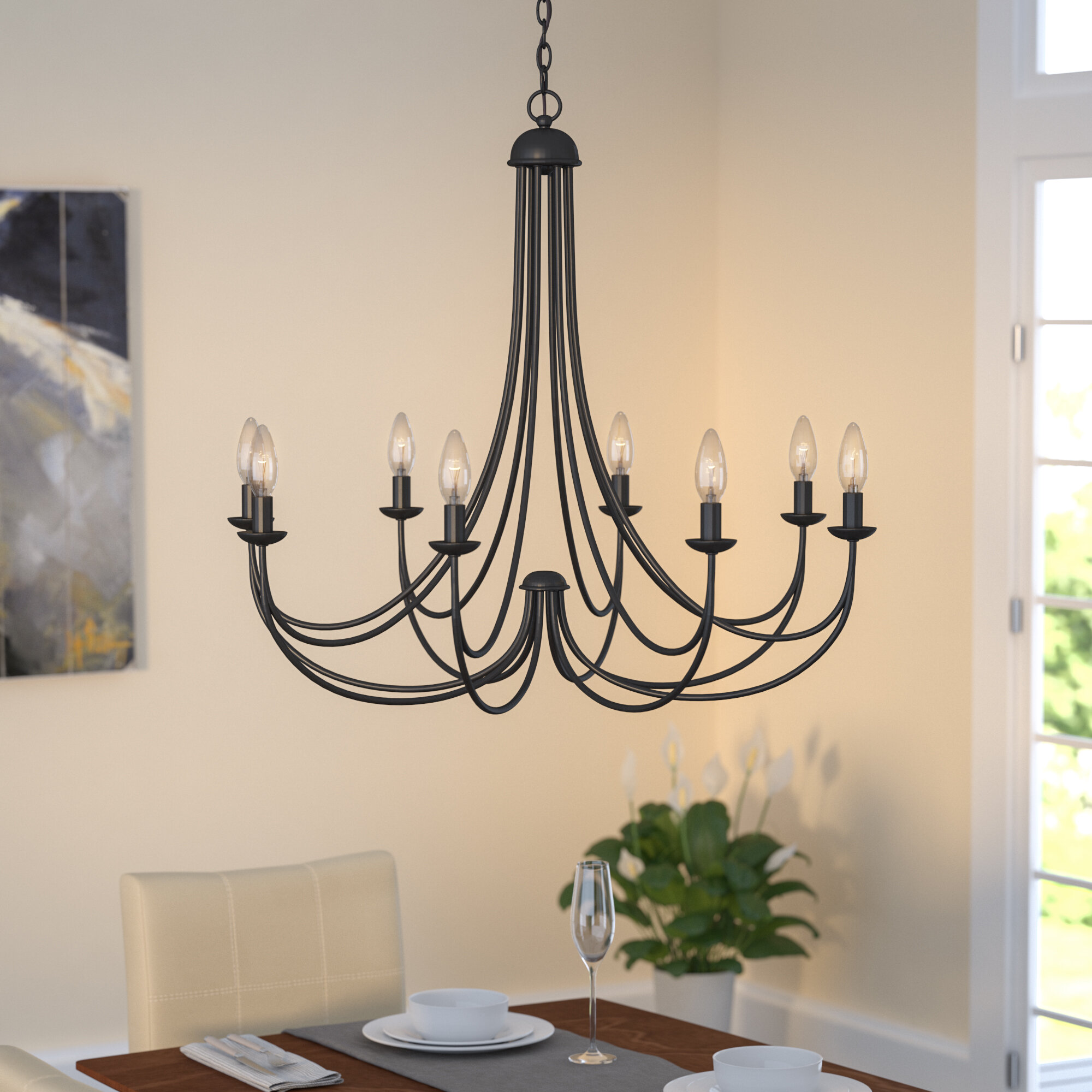 Three Posts Buckland 8 Light Candle Style Chandelier & Reviews