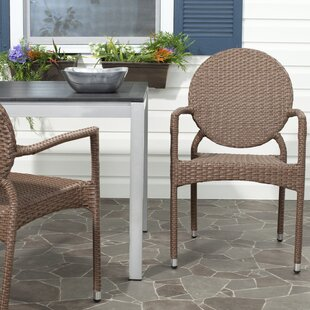 Jeanbaptiste Stacking Patio Dining Chair (Set of 2) by Lark Manor