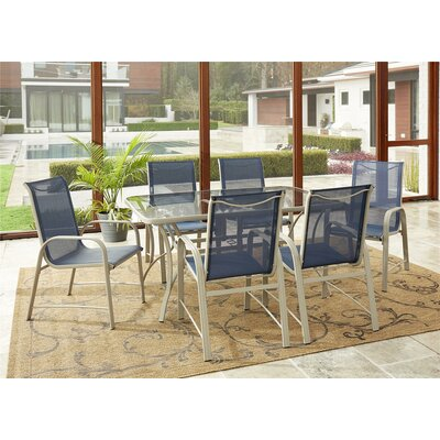 Shropshire 7 Piece Patio Dining Set by Sol 72 Outdoor New