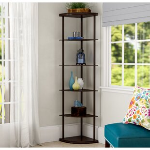 Savings Emerson Corner Unit Bookcase By Charlton Home