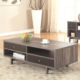 Buettner Contemporary 2 Drawer Coffee Table