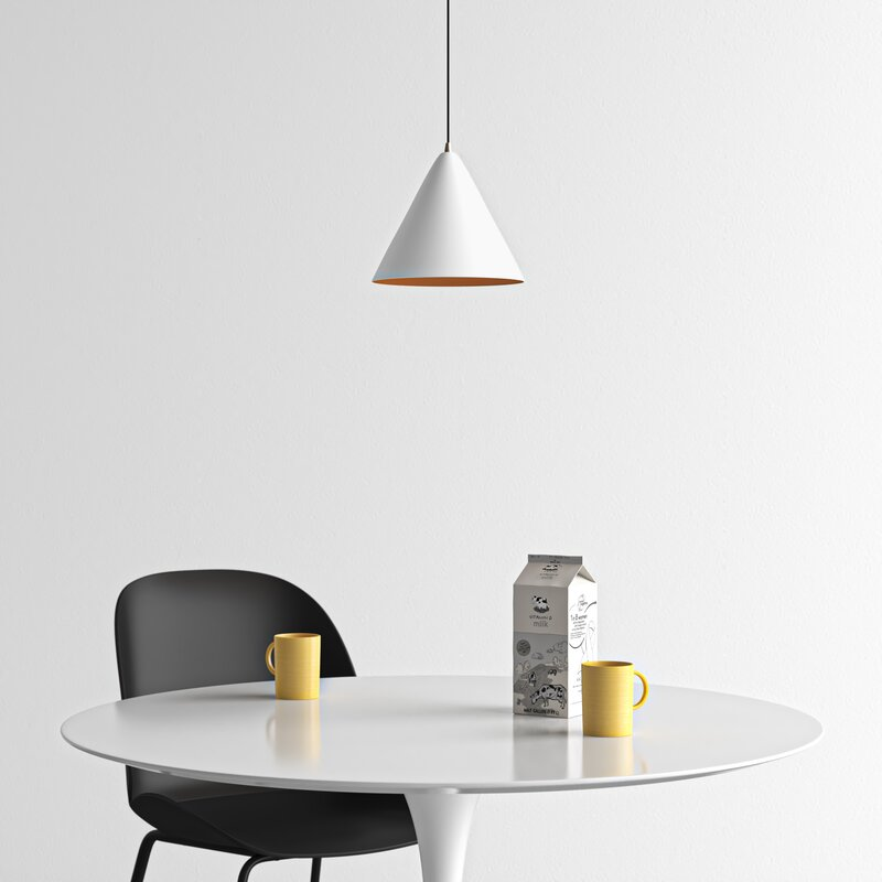 1 Light Single Cone Pendant Reviews Allmodern