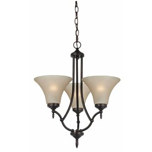 Andover Mills Sowders 3-Light Shaded Chandelier