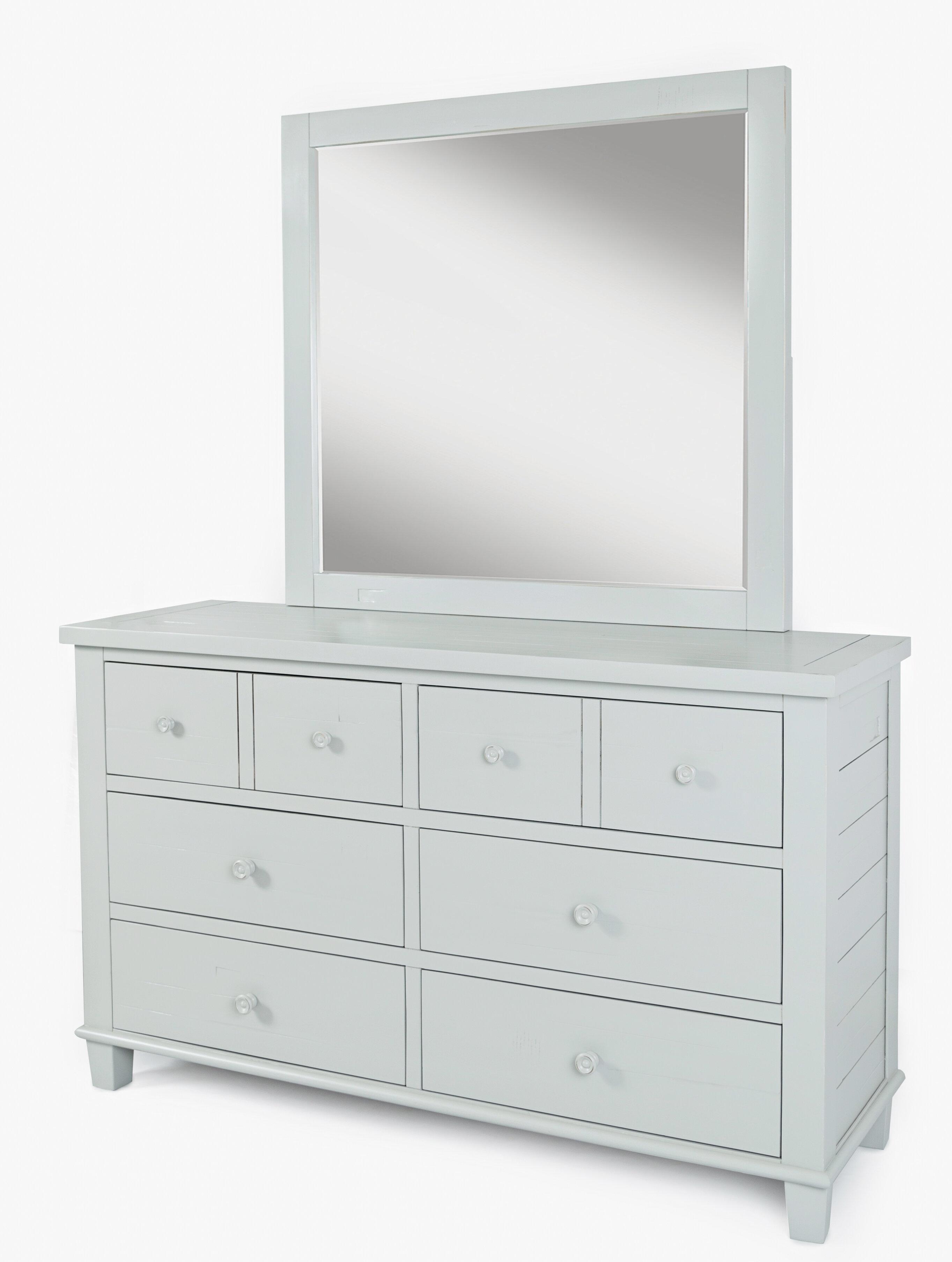 Ginns 8 Drawer Double Dresser With Mirror Joss Main