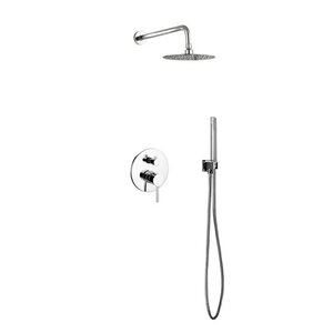 Aqua Rondo Diverter Complete Shower System with Metal Round Handle