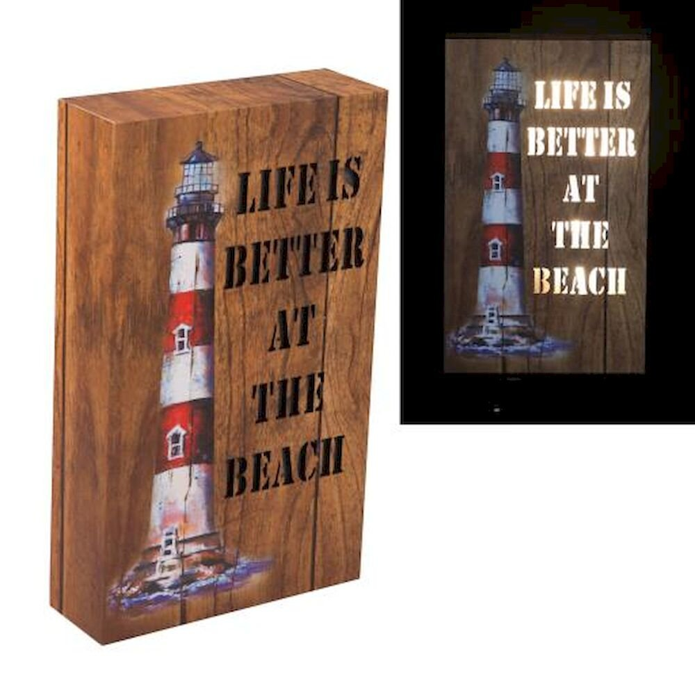 Breakwater Bay Laurium Life Is Better At The Beach Lighthouse Plaque Wayfair