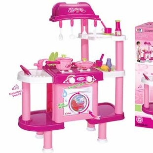 Budget Deluxe Cooking Plastic Play Kitchen By Berry Toys