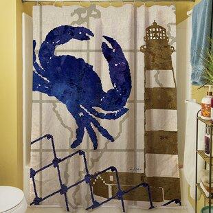 Affordable Price Vineyard Shower Curtain ByBreakwater Bay