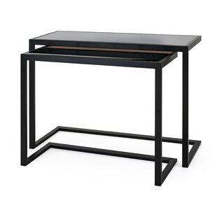 Vegard Iron Frame 2 Piece Console Table Set