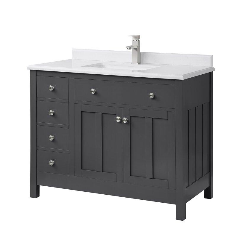 Winston Porter Imlay Dark Charcoal 42 Single Bathroom Vanity Set Wayfair