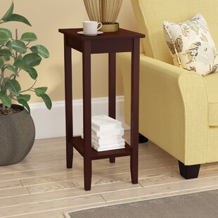 Noble Rosewood Tall End Table Winston Porter