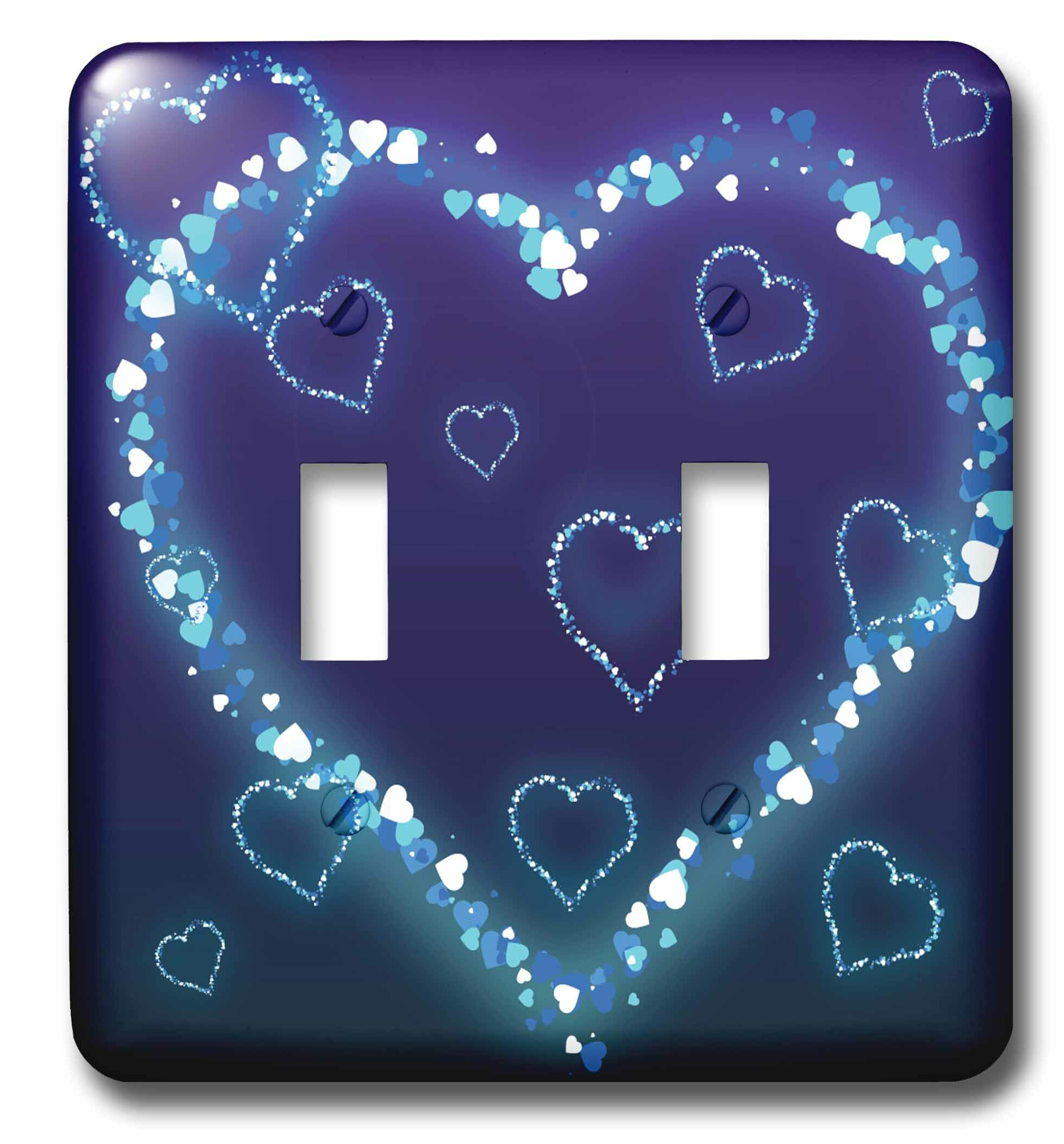 3drose Electric Hearts Love Design 2 Gang Toggle Light Switch Wall Plate Wayfair