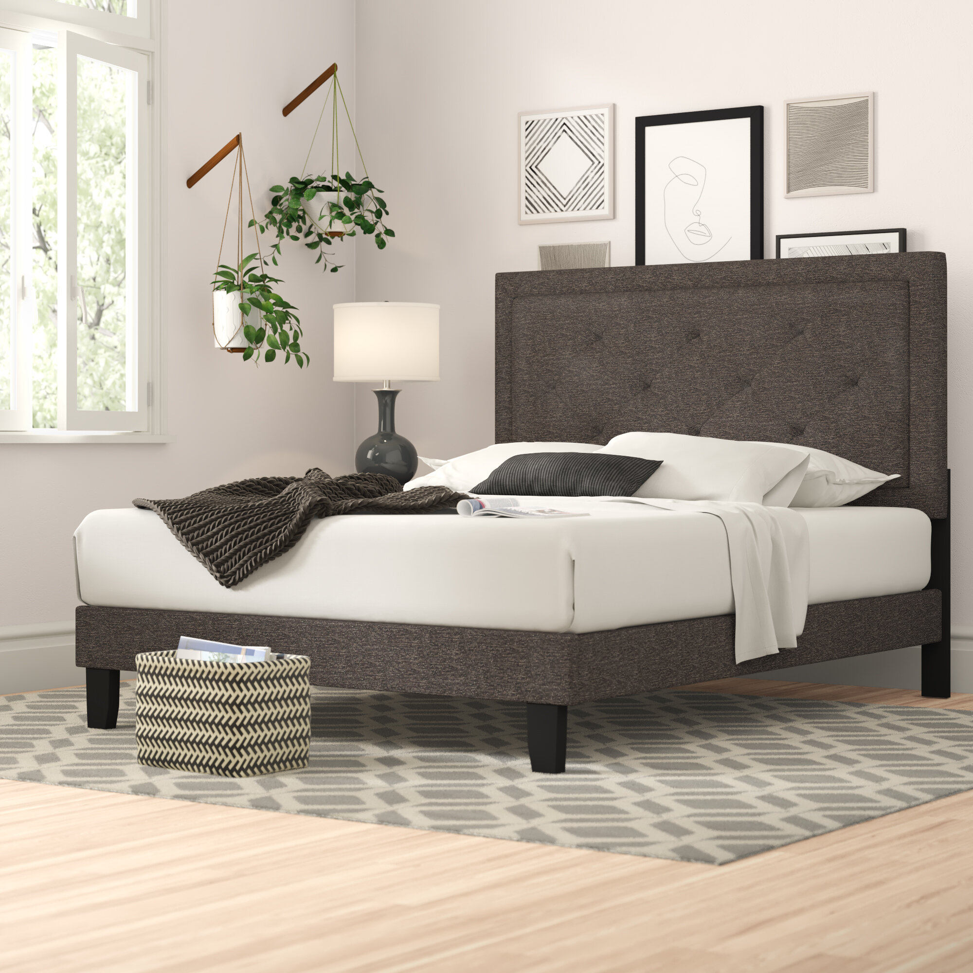 Amoll Standard Upholstered Bed