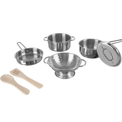 7 Piece Pretend Pots and Pans Set Hey! Play!