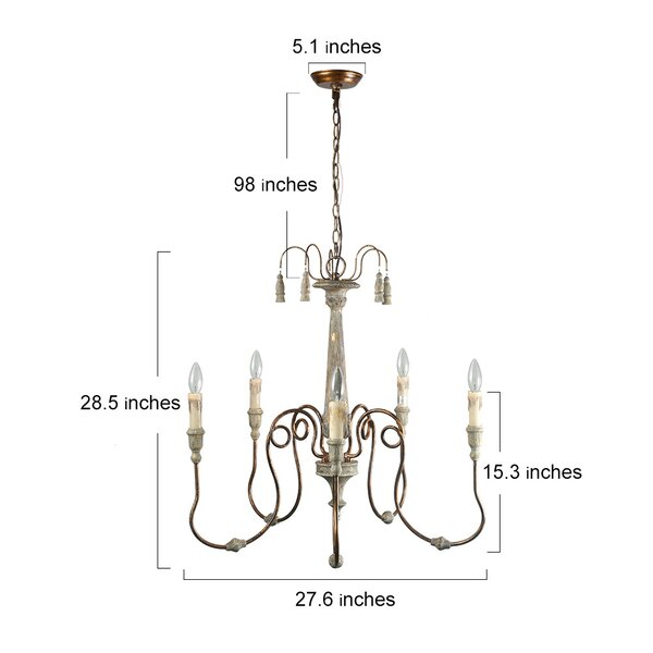 Ophelia Co Lebow 5 Light Candle Style Classic Traditional Chandelier Reviews Wayfair Ca