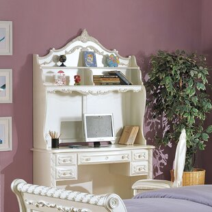 Elroy Pearl Student Desk Hutch by Harriet Bee