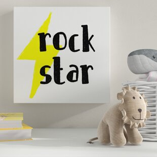 Rock Star' Textual Art by HoneyBee Nursery