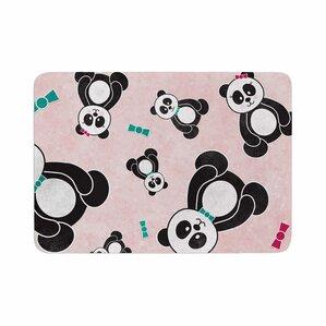 Noonday Design Panda Freefall In Memory Foam Bath Rug