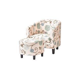 Alcott Hill Abbottsmoor Barrel Chair and Ottoman
