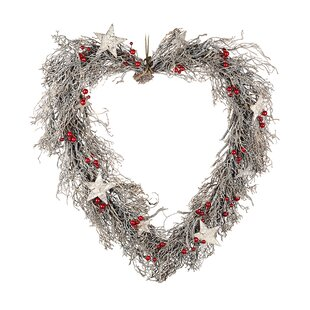 Heart 48cm Christmas Wreath By The Seasonal Aisle