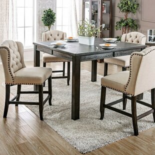 Ophelia & Co. Burta Wooden Counter Height Dining Table