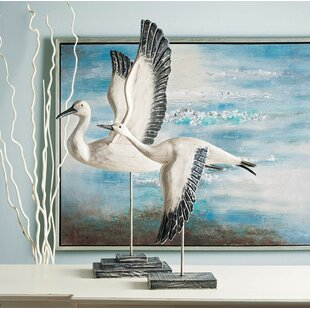 2 Piece Pinewood Birds In Flight Wall Decor Set Of