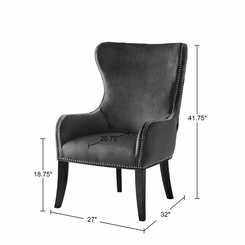 Sease Button Tufted Wingback Chair