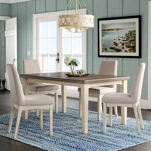 Kinsey 5 Piece Removable Leaf Dining Set Rosecliff Heights