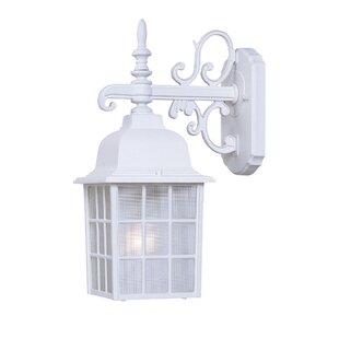 Affordable Price Belfield Rustic 1-Light Outdoor Wall Lantern By Breakwater Bay