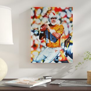 'Peyton Manning Tennessee Volunteers' Oil Painting Print on Wrapped Canvas by East Urban Home