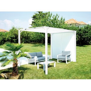 Naugle 3.5m X 2.5m Iron Pergola By Sol 72 Outdoor