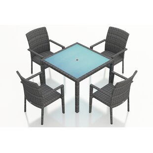 Harmonia Living District 5 Piece Sunbrella Dining Set