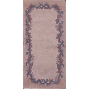 Reviews DeKalb Nepal Classical Tibet Oriental Traditional Hand-Knotted Wool Purple/Black Area Rug By Bloomsbury Market