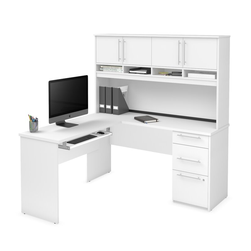 Superbe Altha Plus L Shaped Computer Desk With Hutch