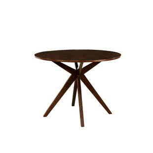 Wrought Studio Goza Mid-Century Modern Round Counter Height Solid Wood Pub Table