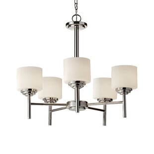 Latitude Run Arlon 5-Light Shaded Chandelier