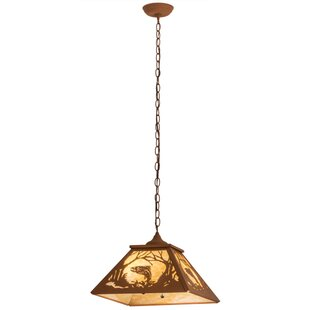 Meyda Tiffany Northwoods Leaping Trout 2-Light Pendant