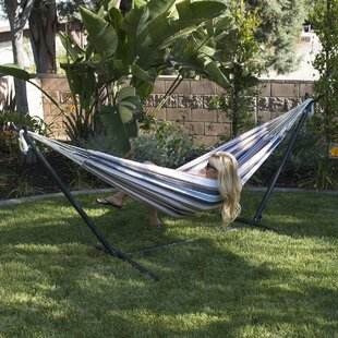 Nina Cotton Hammock with stand by Freeport Park