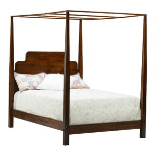 Stair-Step Pencil Queen Canopy Bed