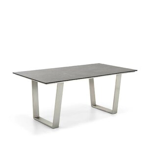Noah Stainless Steel And Plastic Dining Table By Niehoff Garden