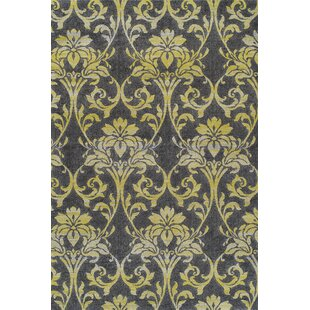 Bargain Babylon Yellow Ikat Pewter Area Rug By Red Barrel Studio